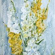 Картины и панно handmade. Livemaster - original item Watercolor painting Gladiolus. Watercolor with flowers.. Handmade.