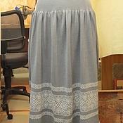 Одежда ручной работы. Ярмарка Мастеров - ручная работа юбка на кокетке. Handmade.