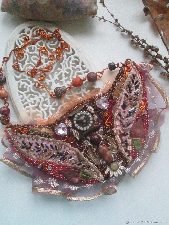 Священный скарабей с кварцем, яшмой, Колье, Барнаул,  Фото №1