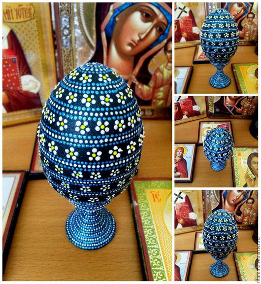 """Яйца ручной работы. Ярмарка Мастеров - ручная работа. Купить """"Весенние""""-декоративное яйцо. Handmade. Голубой, яйцо, декор для интерьера"""