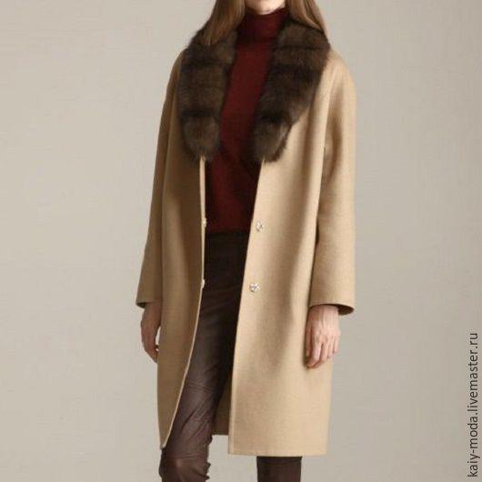 3609df5f94f Зимнее пальто с воротником из куницы – купить в интернет-магазине на ...