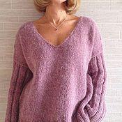 Одежда ручной работы. Ярмарка Мастеров - ручная работа Вязаный пуловер с V образным вырезом.. Handmade.