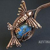 Украшения ручной работы. Ярмарка Мастеров - ручная работа Flying fish (лабрадорит, медь). Handmade.