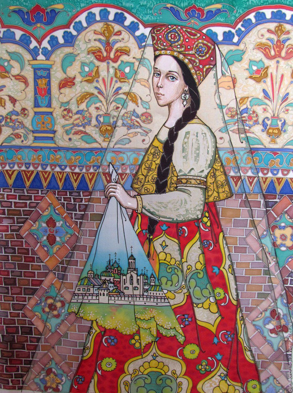 Batik murals 'Yaroslavna', Pictures, Yaroslavl,  Фото №1