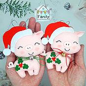 Сувениры и подарки handmade. Livemaster - original item Pig made of felt-symbol of 2019, pig made of felt. Handmade.