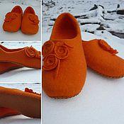 Обувь ручной работы. Ярмарка Мастеров - ручная работа Тапочки валянные домашнии. Handmade.