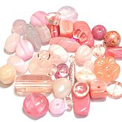 Материалы для творчества handmade. Livemaster - original item 20gr Czech Beads Mix Pink Pink Czech beads Preciosa. Handmade.
