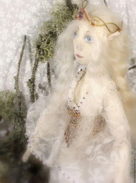Сказочные персонажи ручной работы. Ярмарка Мастеров - ручная работа. Купить Кукла эльфийка. Коллекционная текстильная кукла эльф.. Handmade.