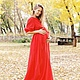 """Платья ручной работы. Ярмарка Мастеров - ручная работа. Купить Платье """"Агния"""". Handmade. Ярко-красный, платье вечернее"""