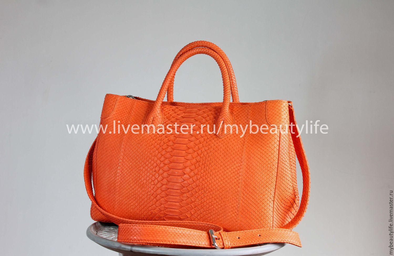 Женские сумки из натуральной кожи рыжие