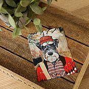 Открытки ручной работы. Ярмарка Мастеров - ручная работа Набор открыток с цвергшнауцером. 4 штуки. Handmade.