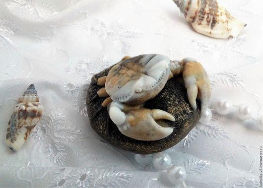 """Мыло ручной работы. Ярмарка Мастеров - ручная работа. Купить Сувенирное мыло """" Краб на камне """". Handmade."""