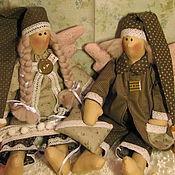 Куклы и игрушки ручной работы. Ярмарка Мастеров - ручная работа Ангелы добрых снов Оливковые. Handmade.