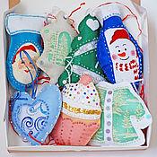 Подарки к праздникам handmade. Livemaster - original item Christmas decor: felt Christmas decorations. Handmade.