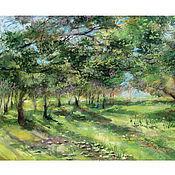 Картины и панно ручной работы. Ярмарка Мастеров - ручная работа Солнечный лес. Handmade.