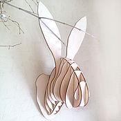 Для дома и интерьера ручной работы. Ярмарка Мастеров - ручная работа Голова Зайца. Handmade.