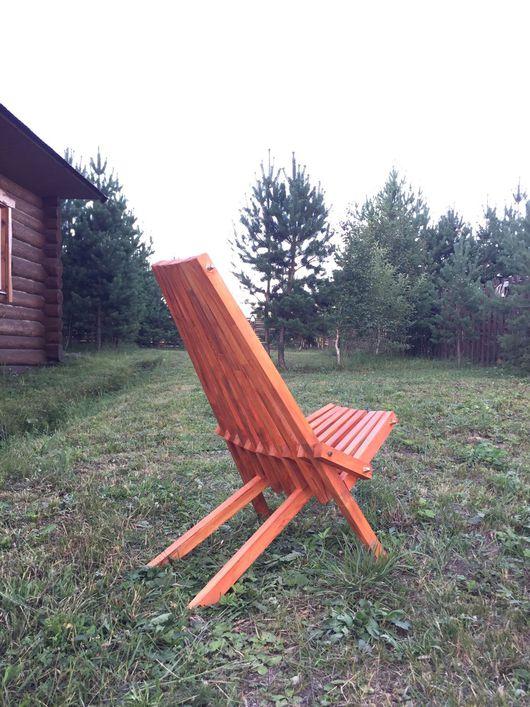 Мебель ручной работы. Ярмарка Мастеров - ручная работа. Купить Стул складной. Handmade. Кресло, мебель из дерева, стул из дерева