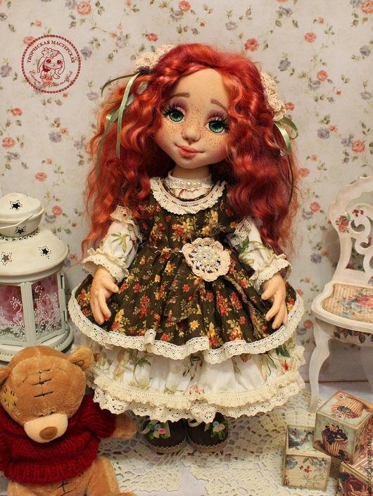 Коллекционные куклы ручной работы. Ярмарка Мастеров - ручная работа. Купить Кукла Серафима текстильная интерьерная с объемным личиком. Handmade.