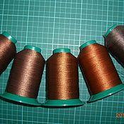 Материалы для творчества ручной работы. Ярмарка Мастеров - ручная работа нитки для кожи рыже-коричневые №20. Handmade.