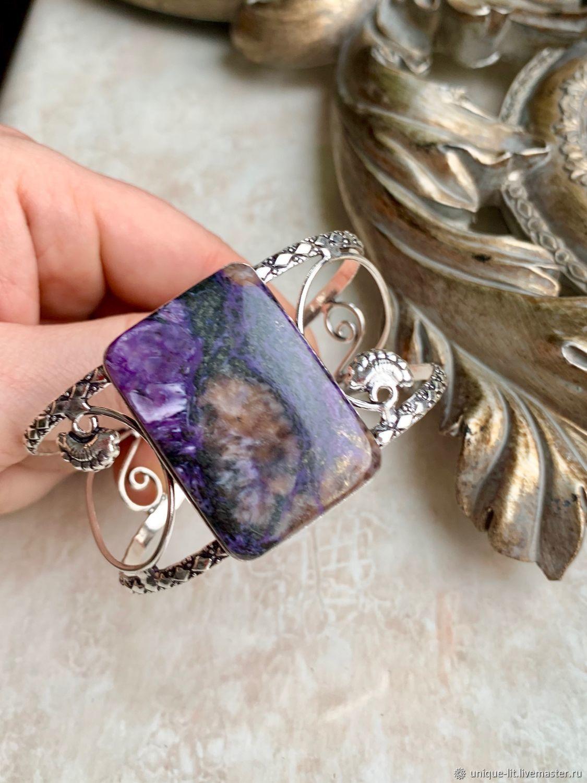 Mysterious Charoite in a bracelet, Bead bracelet, Yaroslavl,  Фото №1