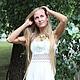 Платья ручной работы. Ярмарка Мастеров - ручная работа. Купить Платье для Марии. Handmade. Белый, платье в русском стиле, кружево
