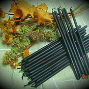 Esoteric Oil handmade. Livemaster - original item Black candles, natural wax, essential oil of wormwood. Handmade.