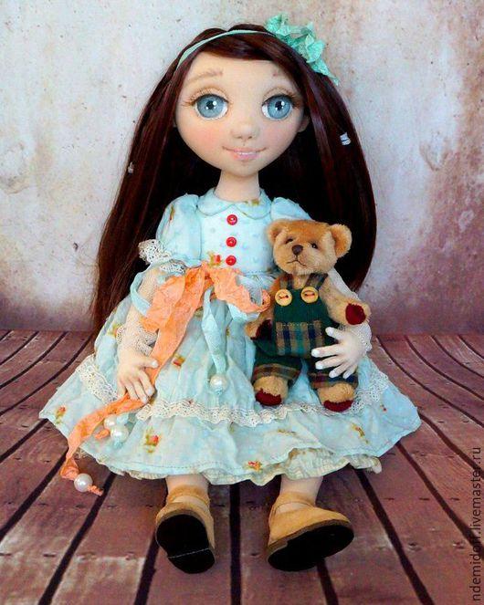 Коллекционные куклы ручной работы. Ярмарка Мастеров - ручная работа. Купить Мелиса и Оскар. Авторская текстильная кукла. Handmade. Мятный