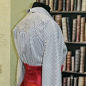 """Одежда ручной работы. Ярмарка Мастеров - ручная работа Блузка стилизованная """"Полоска белая, полоска синяя"""". Handmade."""