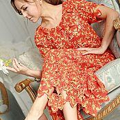 """Одежда ручной работы. Ярмарка Мастеров - ручная работа Платье """"Кленовые листья"""". Handmade."""