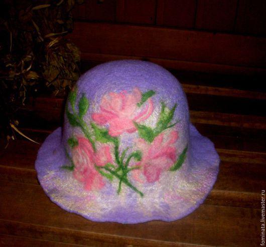 """Банные принадлежности ручной работы. Ярмарка Мастеров - ручная работа. Купить банная шапка """" Розы"""". Handmade. Комбинированный, подарок"""