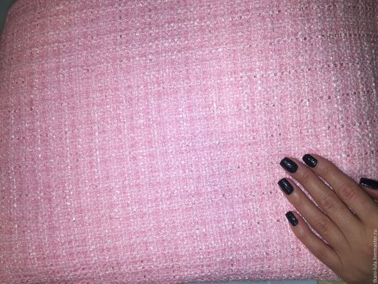 Шитье ручной работы. Ярмарка Мастеров - ручная работа. Купить Твид шанель букле Chanel розовый. Handmade. Бледно-розовый