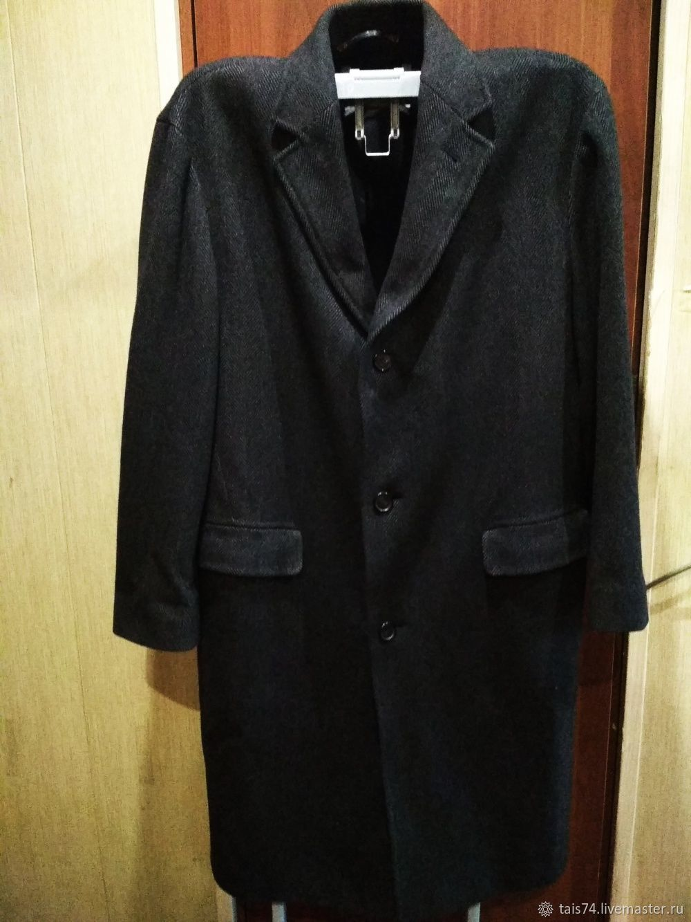 Винтаж: Пальто  классическое мужское  из шерсти и кашемира большой размер, Одежда винтажная, Челябинск,  Фото №1