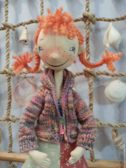 Коллекционные куклы ручной работы. Ярмарка Мастеров - ручная работа. Купить Текстильная кукла Рыжая Пеппи. Handmade.