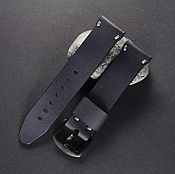 Украшения handmade. Livemaster - original item Watchband leather 18/20/22/24 mm calf leather grey. Handmade.