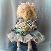 """Куклы и игрушки ручной работы. Ярмарка Мастеров - ручная работа Войлочная  кукла """" Колыбельная для Мурзика"""". Handmade."""