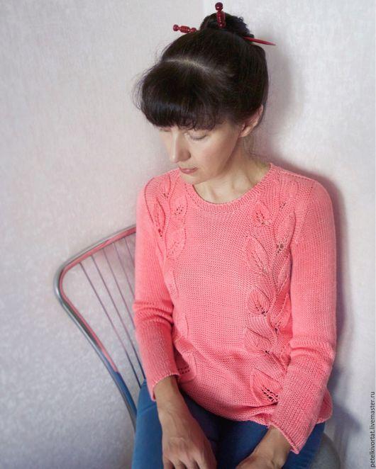 """Кофты и свитера ручной работы. Ярмарка Мастеров - ручная работа. Купить """"Розовый сад"""". Handmade. Розовый, женская одежда"""
