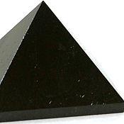 Сувениры и подарки handmade. Livemaster - original item Pyramid polished from shungite 3 cm mineral amulet souvenir. Handmade.