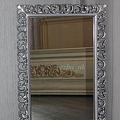 Для дома и интерьера ручной работы. Ярмарка Мастеров - ручная работа Зеркало в резной раме Серебренные переливы. Handmade.