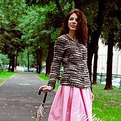 Одежда ручной работы. Ярмарка Мастеров - ручная работа Розовая юбка миди. Handmade.