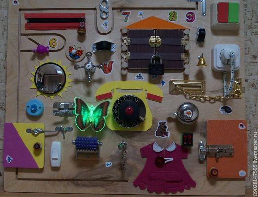 Развивающие игрушки ручной работы. Ярмарка Мастеров - ручная работа. Купить РАЗВИВАЮЩАЯ ДОСКА. Handmade. Развивающая игрушка, распродажа, доска