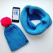 Аксессуары handmade. Livemaster - original item Knitted hat. Caps knitted for girls and women. Handmade.