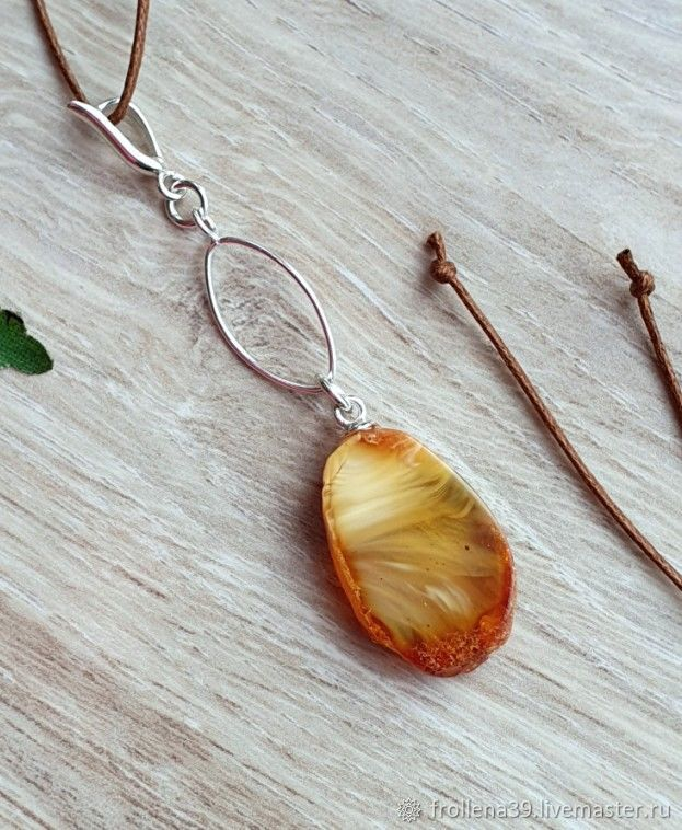 Amber. Air Flow Pendant amber silver, Pendants, Moscow,  Фото №1