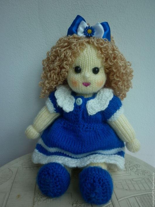 Человечки ручной работы. Ярмарка Мастеров - ручная работа. Купить Куколка вязаная. Handmade. Синий, акриловая пряжа