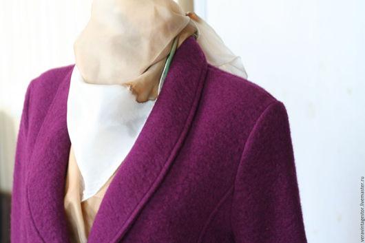 Верхняя одежда ручной работы. Ярмарка Мастеров - ручная работа. Купить 20 Пальто или пиджак  шерсть вишневое 48 46. Handmade.