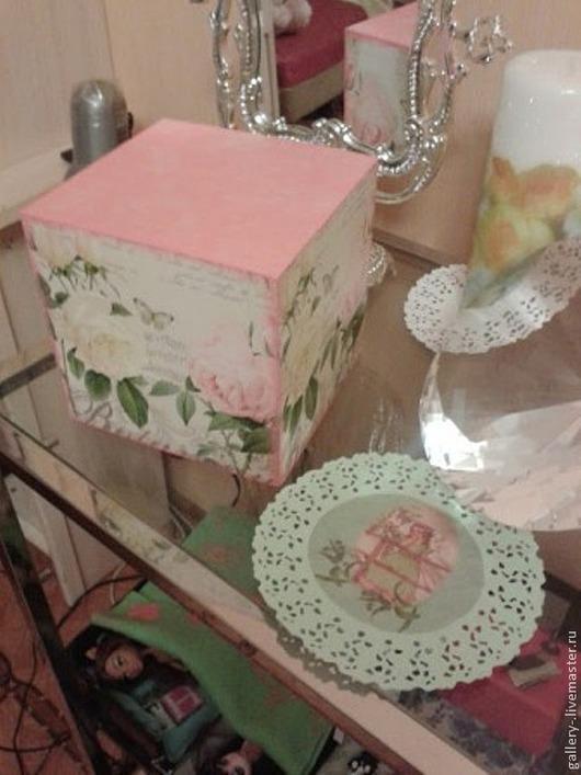 Детская ручной работы. Ярмарка Мастеров - ручная работа. Купить Декоративный кубик. Handmade. Подарок, подарок на день рождения, розовый