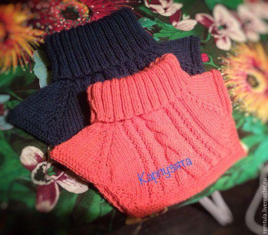 Шапки и шарфы ручной работы. Ярмарка Мастеров - ручная работа. Купить Манишка детская. Handmade. Тёмно-синий, манишка для девочки