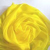 Аксессуары ручной работы. Ярмарка Мастеров - ручная работа Платок Лимонный сок шелковый желтый. Handmade.