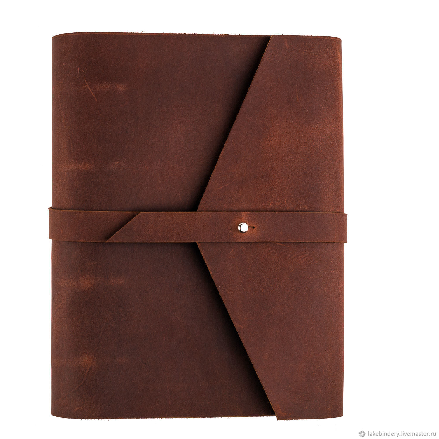 Leather notebook A5 rings with strap genuine leather Crazy Horse, Notebooks, Moscow,  Фото №1
