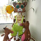 Куклы и игрушки ручной работы. Ярмарка Мастеров - ручная работа Кот Финдус и Мюкла. Handmade.