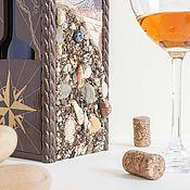 Для дома и интерьера handmade. Livemaster - original item Amber in a glass. Wine box bottle holder for sea wine. Handmade.
